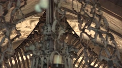 Ossuary, Kostnice, Czech Republic, Kutna Hora, Sedlec. 4K. Stock Footage