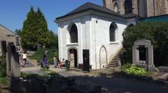 Church, kirk. Ossuary, Kostnice, Czech Republic, Kutna Hora, Sedlec. 4K. Stock Footage