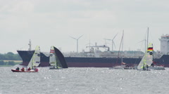 Sailing Race during Kiel Week 2015-2 - stock footage