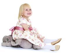 Cute little blonde girl - stock photo
