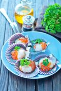 scallop - stock photo