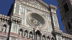 The Cattedrale di Santa Maria del Fiore in Florence, Italy. Stock Footage