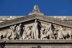 Detail On Jesse Unruh State Office Building - stock photo