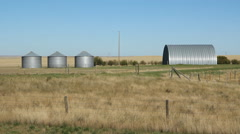 Farm buildings. Alberta, Canada. Stock Footage