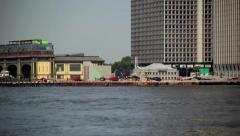 Helicopter Departs East River Heliport In NYC HD Stock Footage