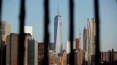 One World Trade Center Thru Railing Stock Footage