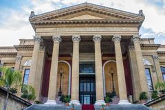 Teatro Massimo in Palermo, Italy - stock photo