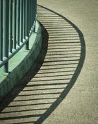 shade of green railings - stock photo