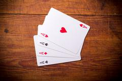 Four aces playing cards - stock photo