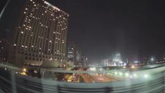 View of Odaiba, Tokyo via the Yurikamome Stock Footage