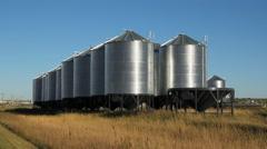 Grain silos. Wymark, Saskatchewan, Canada. Stock Footage