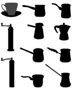 grinder for coffee - stock illustration