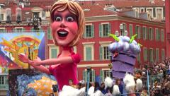 Float in Nice Carnival Parade, France Stock Footage