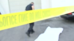 Police Crime Scene - Caution Tape - Abstract Stock Footage