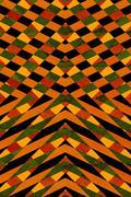 Stock Illustration of Black and orange striped pattern