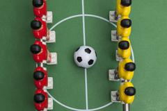 Foosball. football table - stock photo