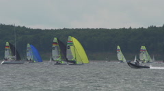 Sailing Race during Kiel Week 2015-3 Stock Footage