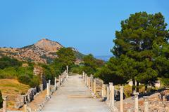 Ancient ruins in Ephesus Turkey Stock Photos