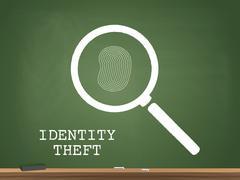 Identity Theft Chalkboard Vector Illustration Stock Illustration