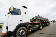 Armored car tiger transportation Stock Photos