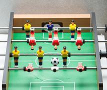 Foosball. football table Stock Photos