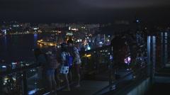 Victoria Peak viewing platform in Hong Kong 4K Stock Footage