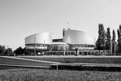European Court of Human Rights building in Strasbourg Stock Photos