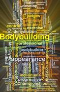 Bodybuilding background concept glowing Stock Illustration