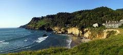 Stock Photo of Cape Foulweather with condominium