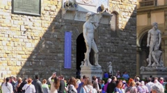Piazza della Signoria in Florence, Italy Stock Footage