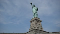 Stock Video Footage of Statue of Liberty, Liberty Island, New York City