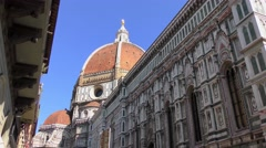 The Cattedrale di Santa Maria del Fiore in Florence, Italy. Stock Footage