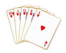 Stock Illustration of Ace Hearts Flush