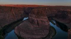 Horseshoe Bend Sunrise Time-lapse 4k UHD Stock Footage