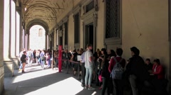 The Uffizi Gallery  in Florence, Italy. Stock Footage