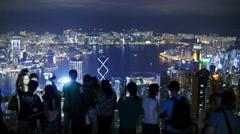 Visitor time lapse at Hong Kong Peak 4K Stock Footage