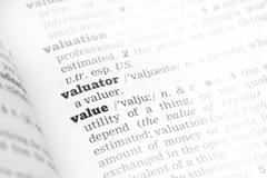 Value Dictionary Definition - stock photo