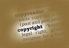 Copyright Dictionary Definition - stock photo