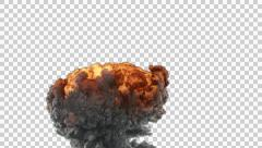 Slow Explosion with Smoke 3 (Pre Keyed) Stock Footage