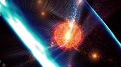 Gamma-ray burst from star - stock footage