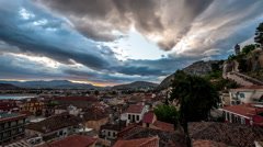 Nafplio Sunrise Stock Footage