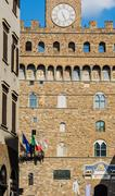 David and Palazzo Vecchio in Florence - stock photo