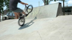 BMX Trick-fastplant on bank - stock footage