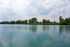 idyllic lake - stock photo