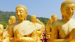 HD: Dolly: Golden Buddha at Buddha Memorial park Stock Footage