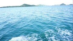 travel by speed boat in Thailand - stock footage
