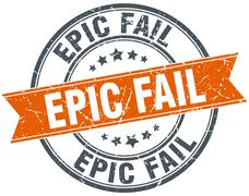 Stock Illustration of epic fail round orange grungy vintage isolated stamp