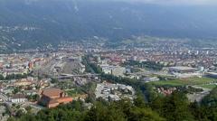 Aerial View Of Bergisel, Innsbruck Stock Footage