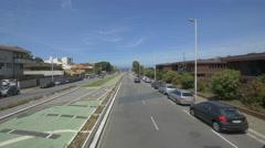 Driving on Buovista Avenue in Porto in a sunny day Stock Footage