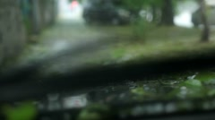 Heavy Rains and Hail Hit the Road Stock Footage